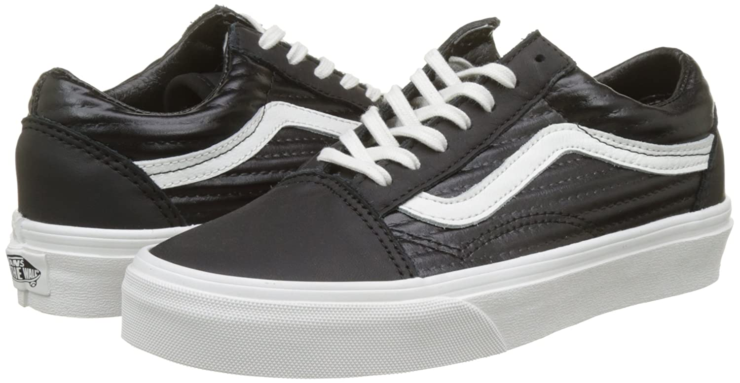 Vans Unisex Old Skool Classic Skate Shoes B01MXXIZD9 9 M US Women / 7.5 M US Men|Black/Blanc De Blanc