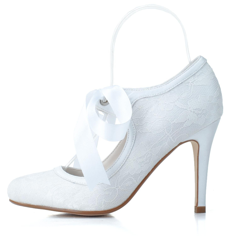 L@YC L@YC L@YC Frauen Low Heels Hochzeit TU-5623-06 Ball Spitze Geschlossene Zehe Ribbon Court Schuhe e9b994