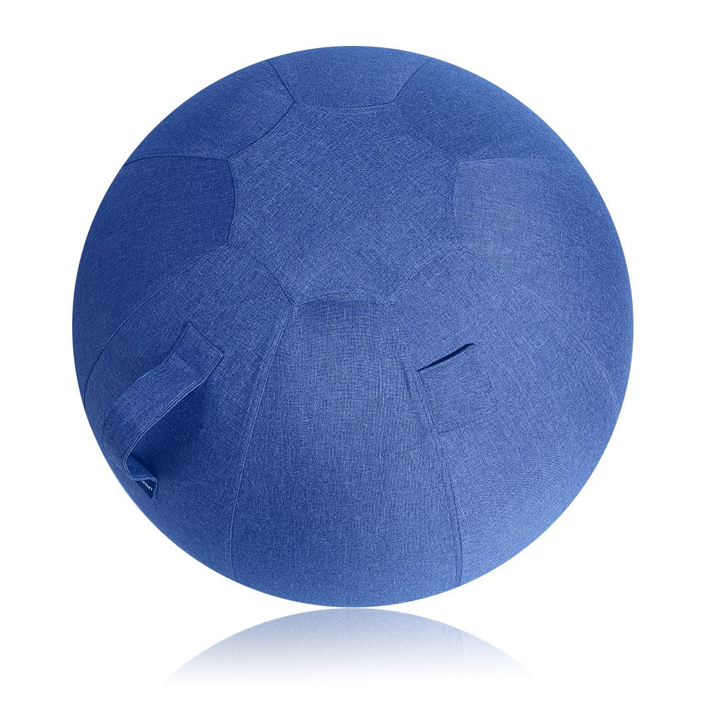 Neustern Balance Ball Cover -Sitting Ball Chair Cover for Yoga, Office, Pilates, Birthing Ball Professional Quality Design Exercise Ball Chair with Handel Machine Washable (Navy Blue, 65cm) by Neustern (Image #1)
