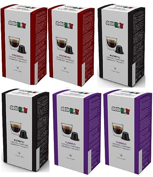 Cápsulas Cremesso® Delizio® Compatibles Degustación 96 Cápsulas