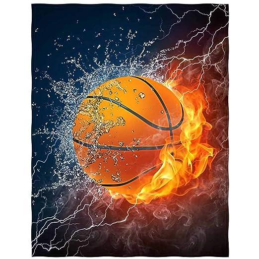 Manta de Tiro con Estampado de Baloncesto Diseño de Confort Manta ...