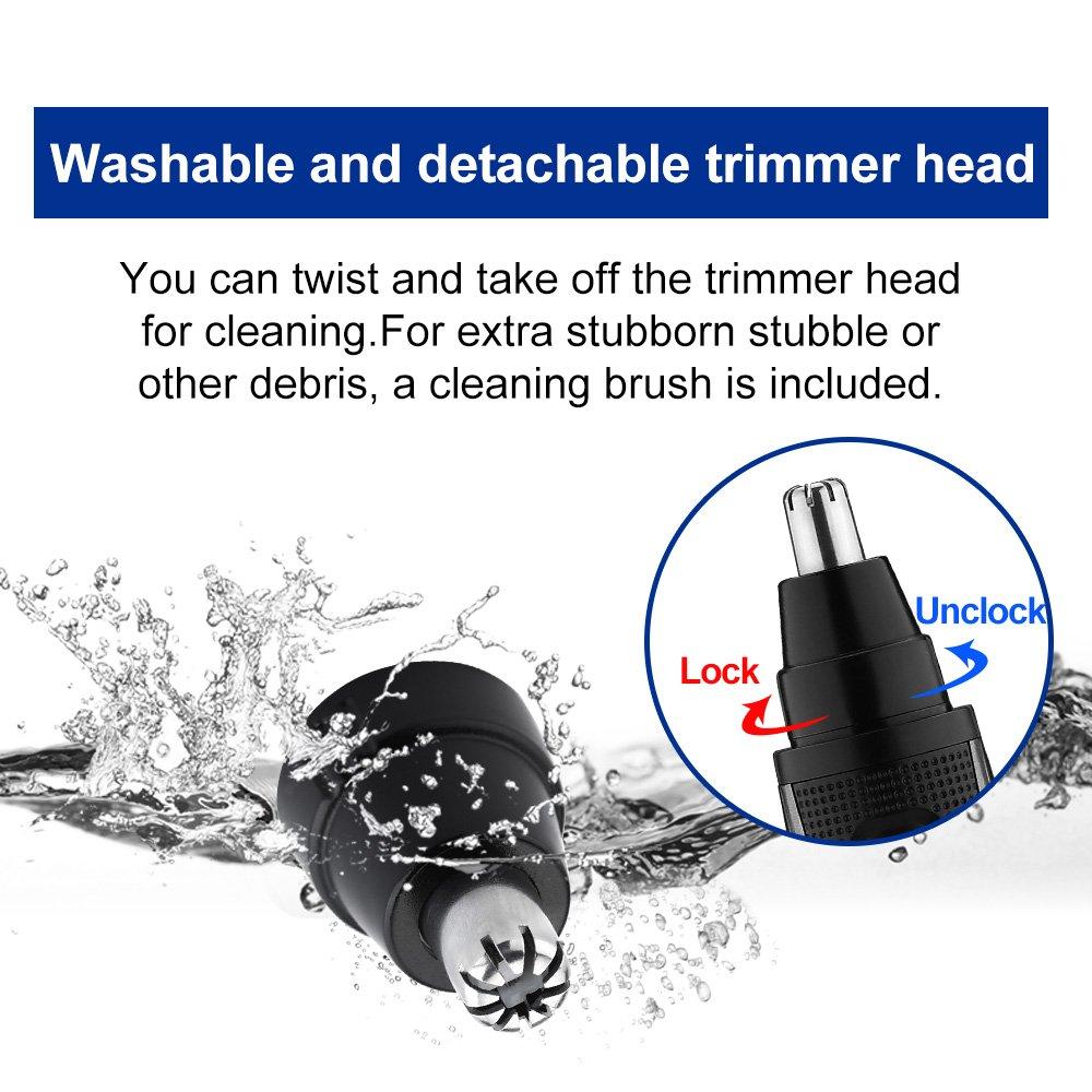 LUUKMONDE Trimmer e basette per capelli orecchie naso elettrico Clipper 420 Tritas per orecchie e denti piatto Rotary per uomo Batteria