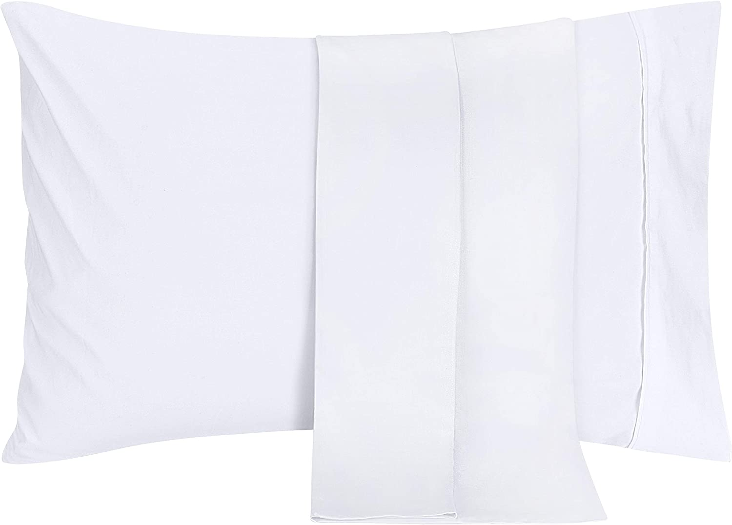 Utopia Bedding Brushed Microfiber Pillowcases – 20 by 40 inches Pillow Covers (Pack of 2, King, White)