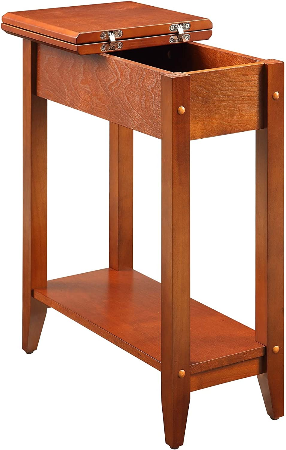 Convenience Concepts American Heritage Flip Top End Table, Cherry