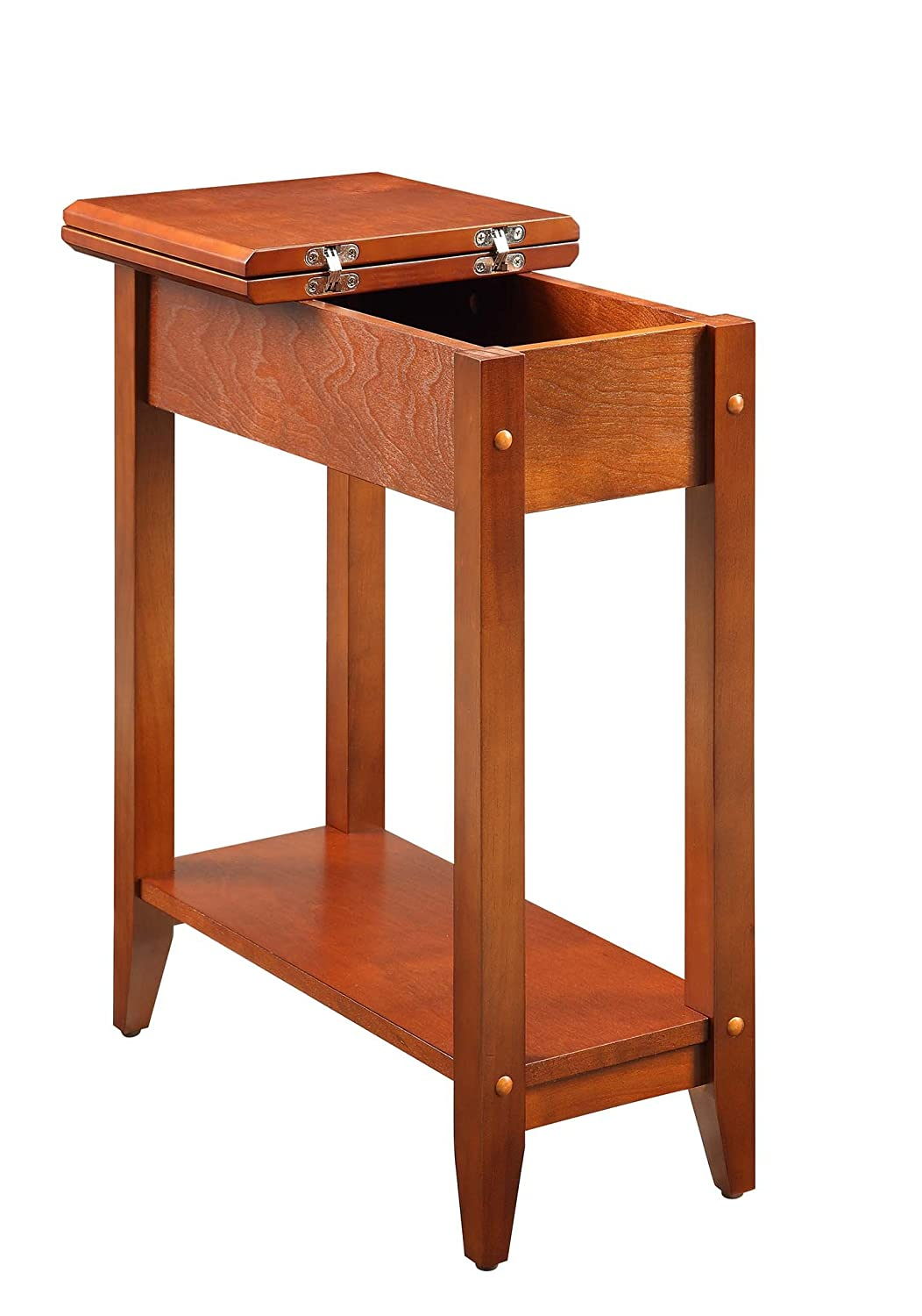 Flip top side table - Amazon Com Convenience Concepts American Heritage Flip Top End Table Cherry Home Kitchen