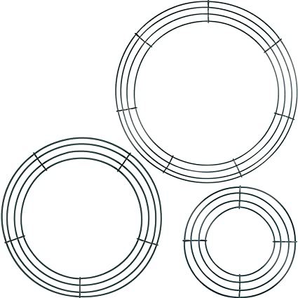 Amazon Com Stark 3 Pack Wire Wreath Frame Wire Wreath Making Rings