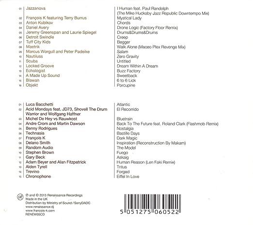 FRANCOIS K - Renaissance-Masters Series-Mixed By Franois K - Amazon ...