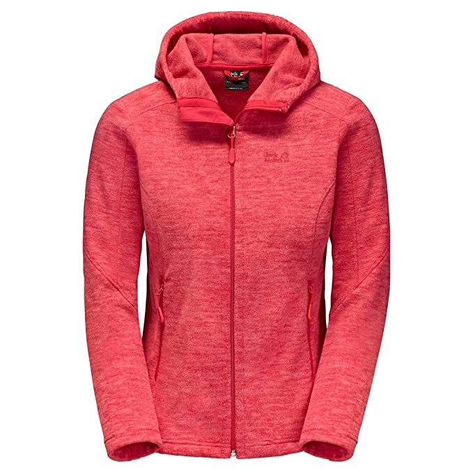 Womens Jack Wolfskin Insulated Jackets Hibiscus Red Red
