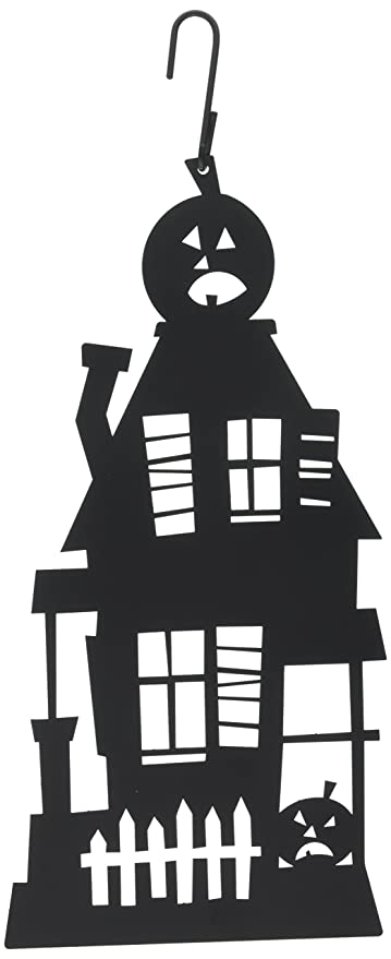 amazon com 17 inch haunted house hanging silhouette home kitchen