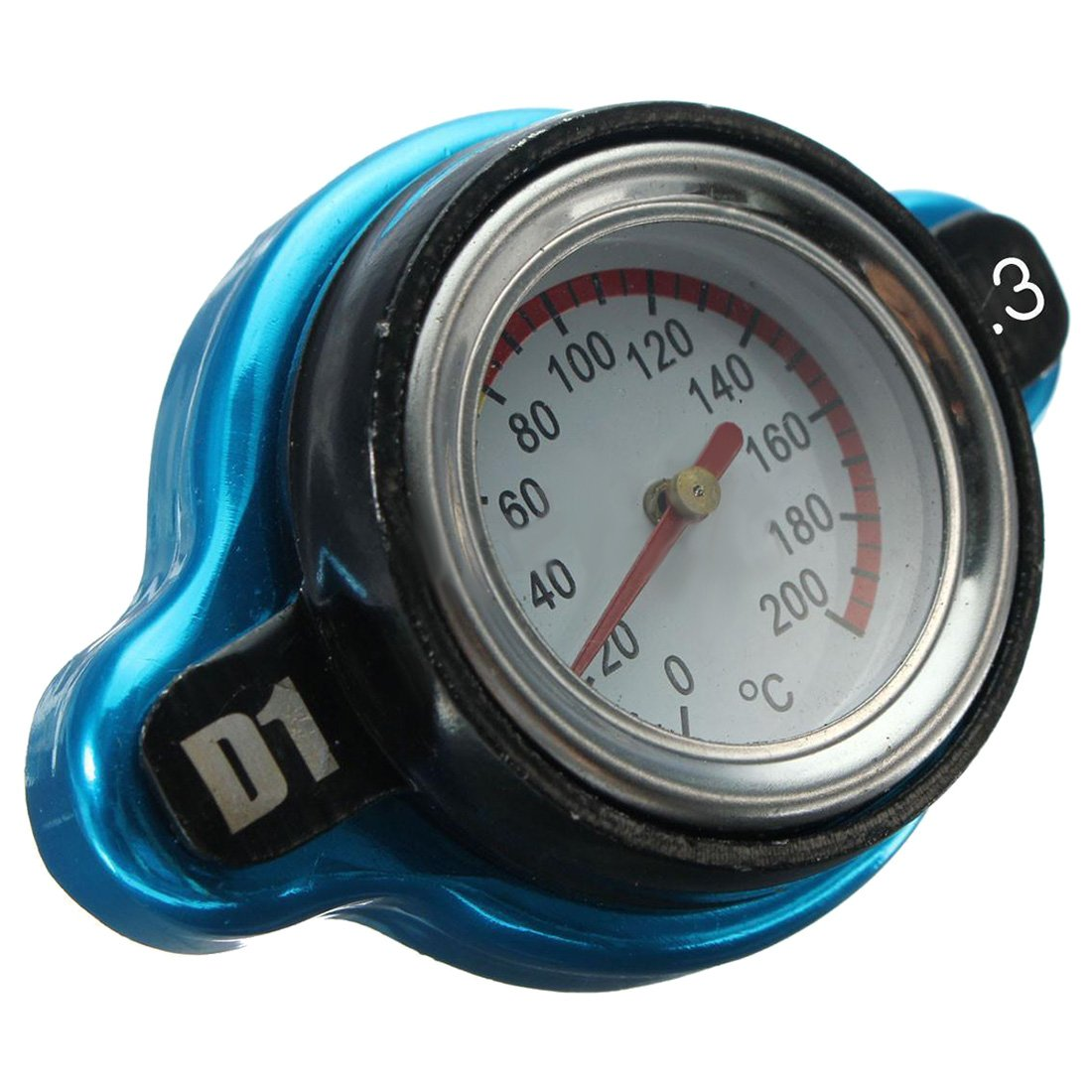 SODIAL(R) Universal Car 1.3 Bar Thermostatic Radiator Cap Cover Water Temperature Gauge 101161