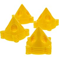 U.S. Art Supply Yellow Cone Canvas and Cabinet Door Risers - Acrylic and Epoxy Pouring Paint Canvas Support Stands (Pack of 20) Great to get your Canvas or Cabinet Doors elevated for a clean paint job