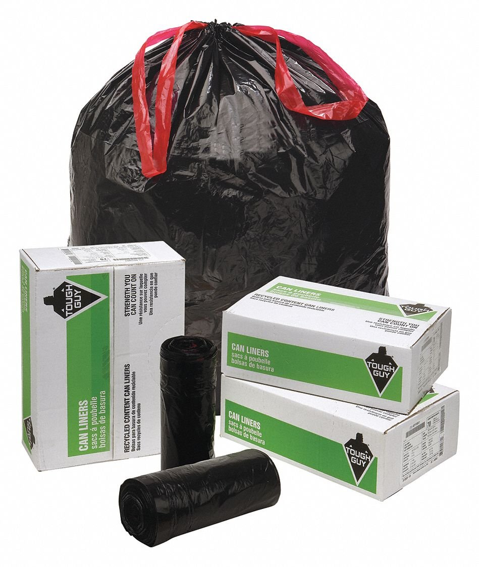 Trash Bags, 30 gal., 1.05 mil, PK70: Amazon.com: Industrial ...