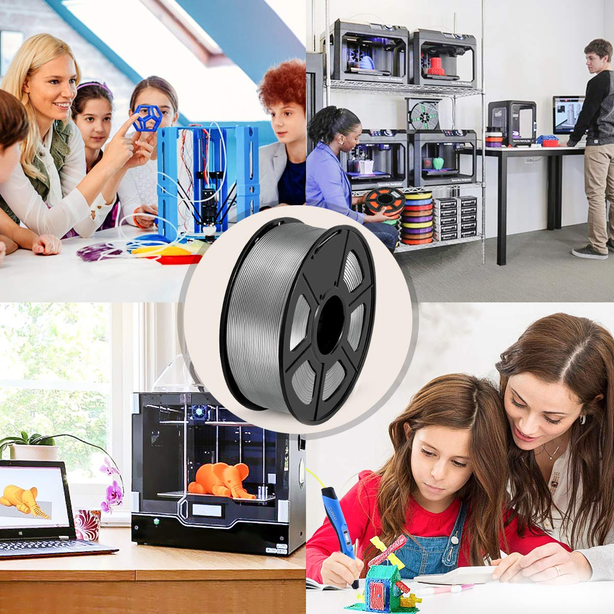 PETG Negro Precisi/ón Dimensional 0.02 mm // SUNLU Filamento PETG 1.75mm 1kg Impresora 3D Filamento