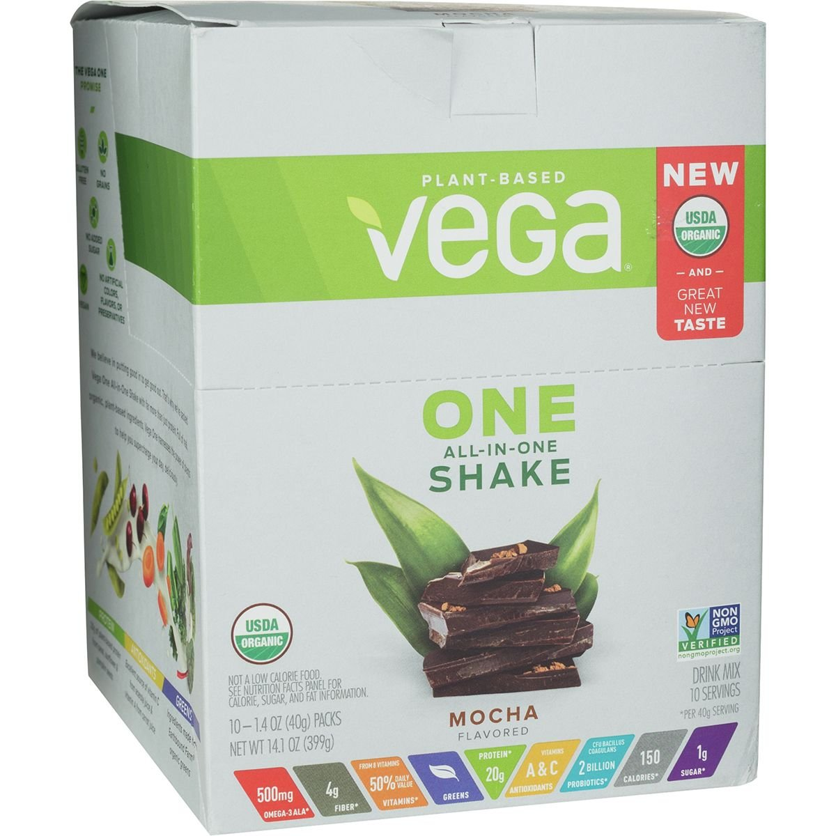 Vega Nutrition One Organic Shake - 10-Pack Mocha, 10x1.4oz
