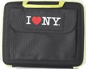 I Love NY Sleek Netbook Case, Black (ILNLAP1160K)