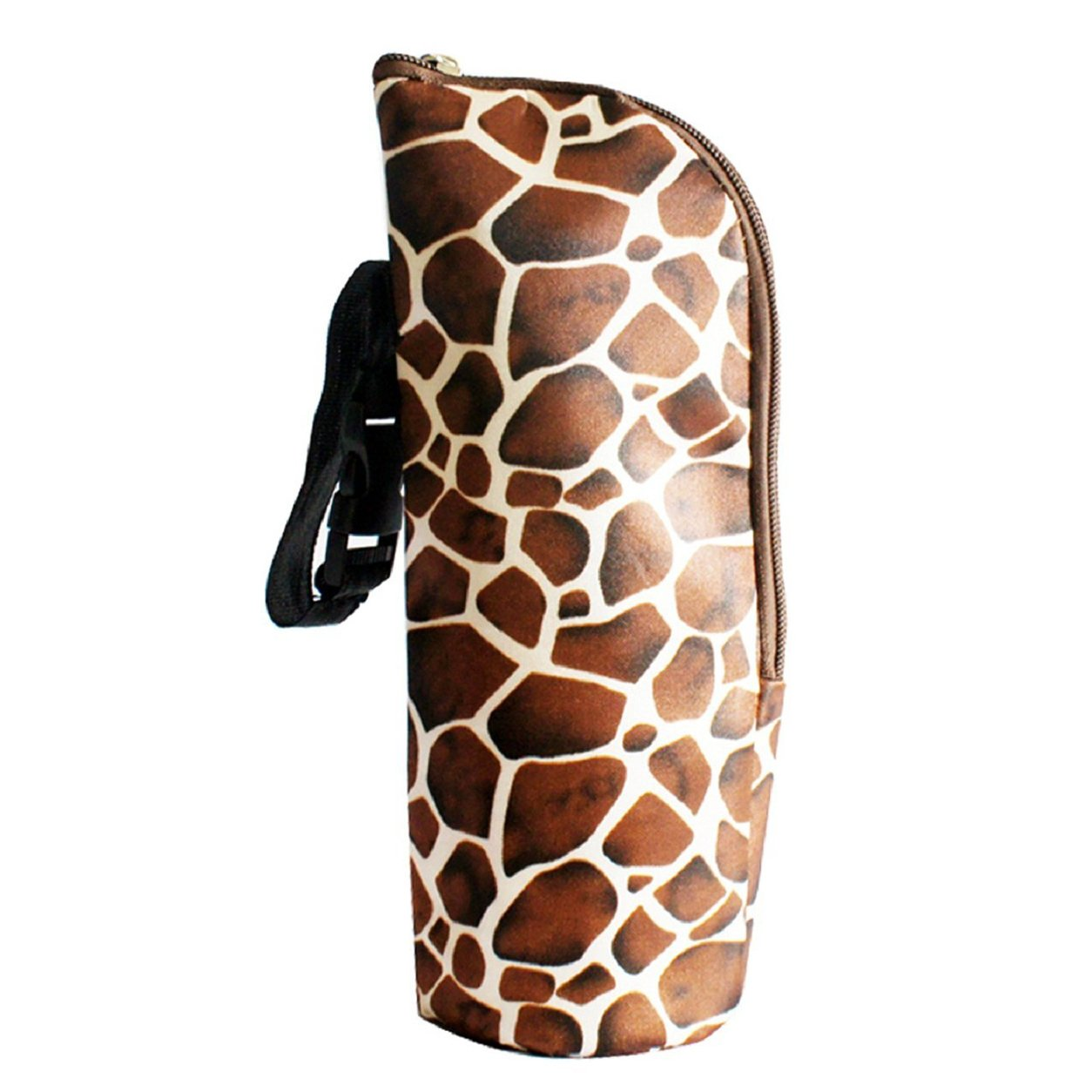 Feeding Bottle Tote Bag - SODIAL(R)Baby Thermal Feeding Bottle Warmers Mummy Tote Bag Hang Stroller Brown£¨Snakeskin£© 073575A4