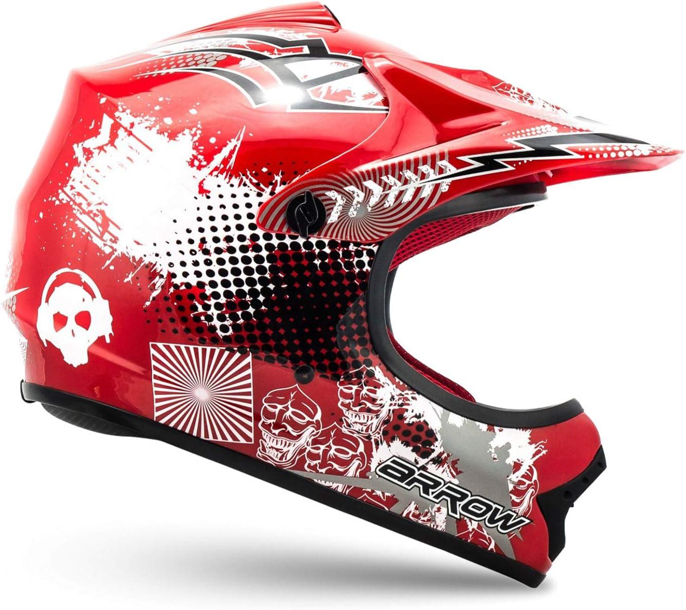 XS Azul Bolsa de transporte ARMOR Helmets AKC-49 Set Casco Moto-Cross DOT certificado 51-52cm