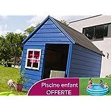 Forest style M231578 - Caseta de madera infantil marina