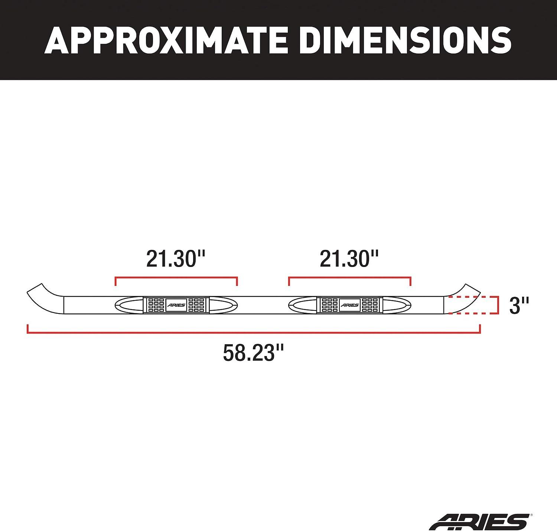 Aries 203045 3 Round Side Bar