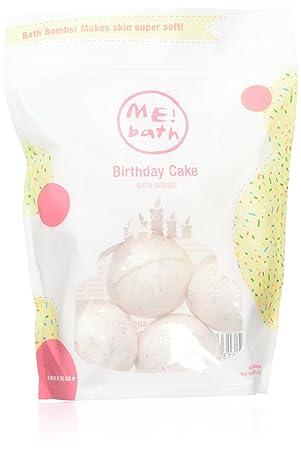 MEbath Birthday Cake Bath Bombs 6 Count Amazonca Beauty