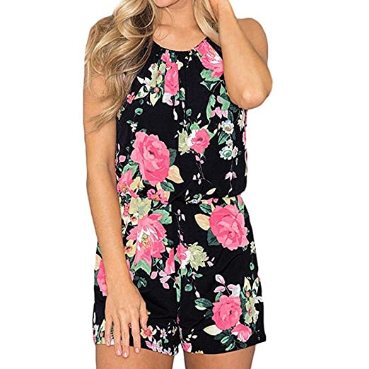 5631418702 Handyulong Women s Casual Floral Rompers