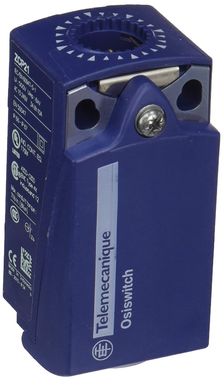 Snap Action 31 mm Width x 65 mm Height x 30 mm Depth Telemecanique Sensors ZCP21 Limit Switch Body Fixed 2 Poles Plastic