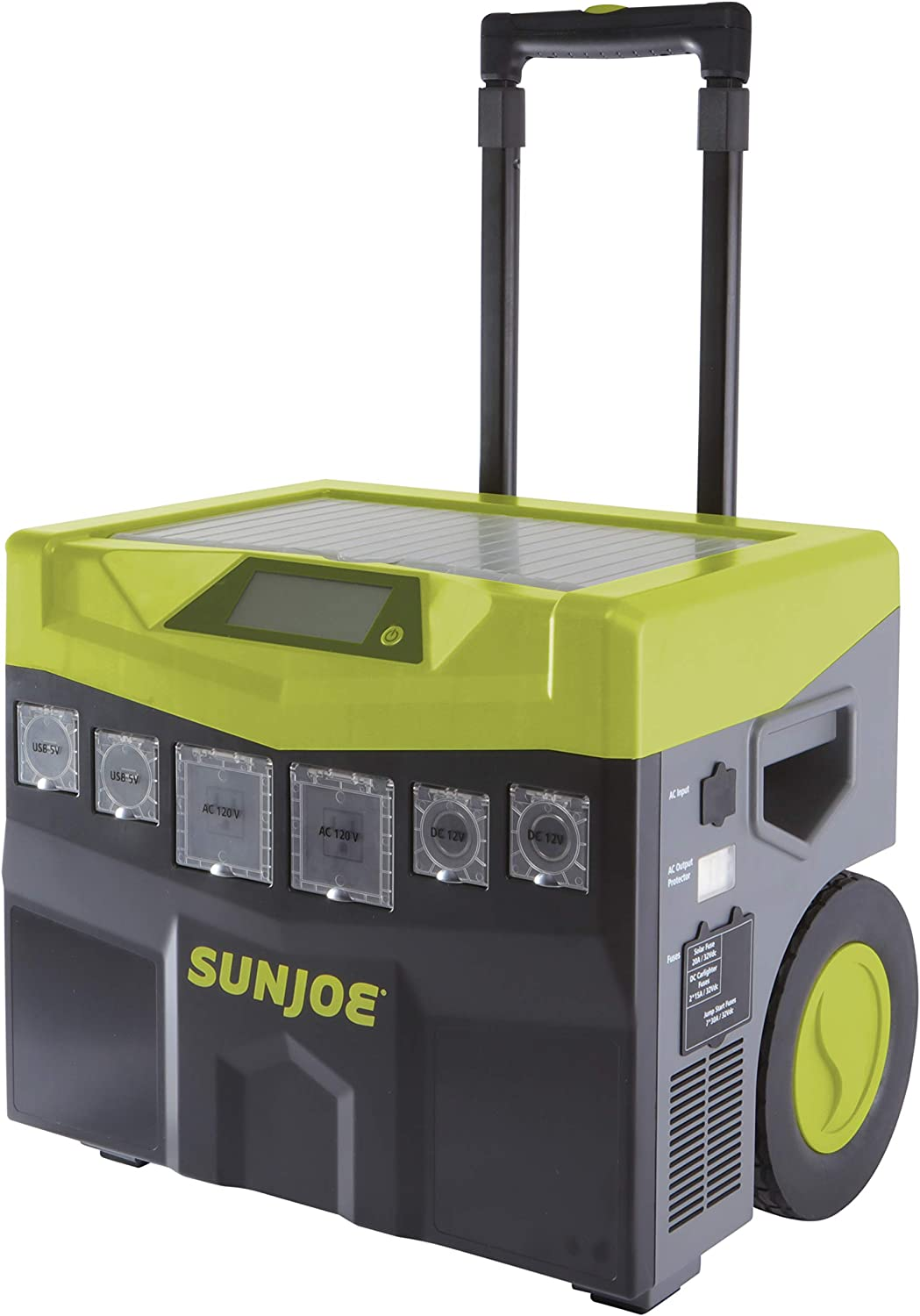 Sun Joe SJ1440SG 1440 Watt Battery Powered Portable Ind Out Inverter Generator, Green