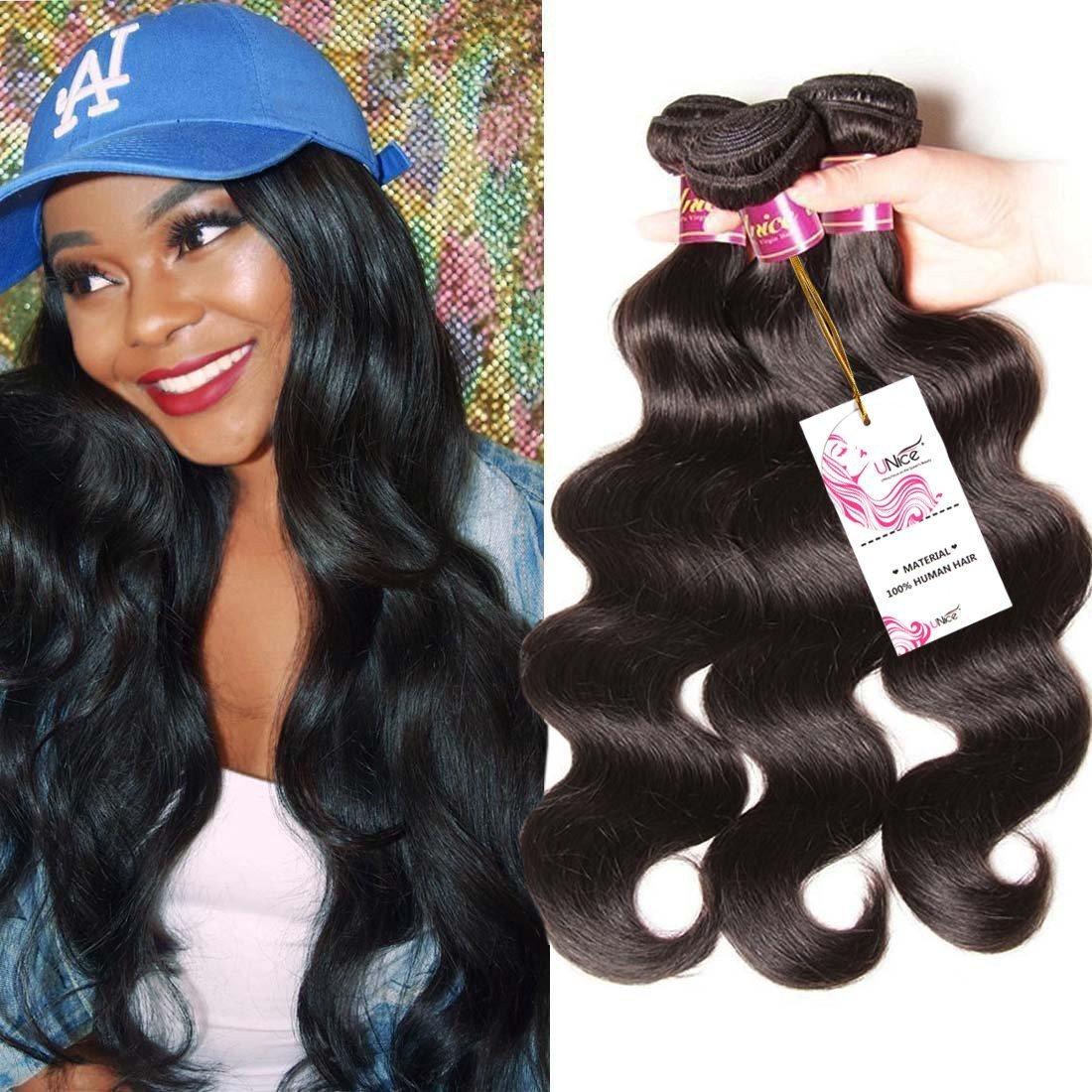 Amazon Unice Hair 3 Bundles 7a 100 Virgin Peruvian Human Hair