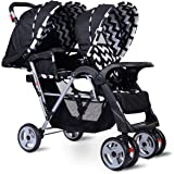 Costzon Double Stroller Infant Baby Pushchair Convenience Twin Seat (Black)