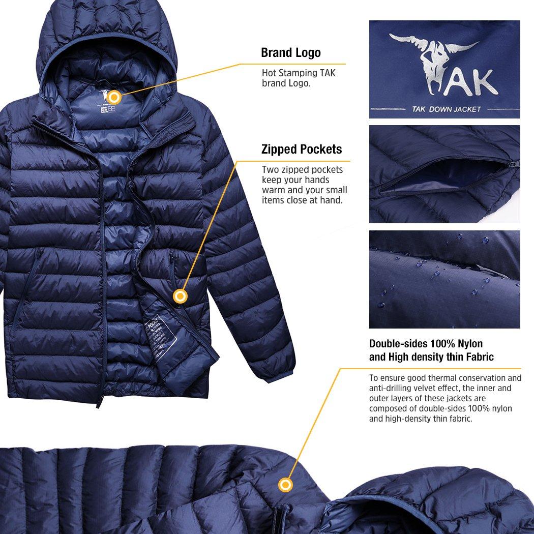 TAK Abrigo de hombre con con con Capucha para Invierno Tamaño M - Xl 87a319
