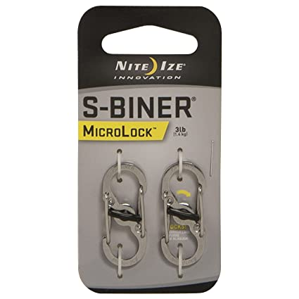 Nite Ize S Biner Micro Lock Stainless Steel, 2 Pack by Nite Ize