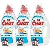 Le Chat Sensitive - Lessive Liquide -  Lot de 3 x 1,25L - 75 Lavages