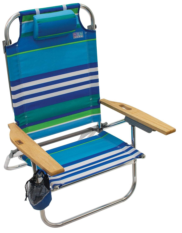 Amazon.com: Rio Beach Hi-Boy - Silla de playa plegable, 5 ...