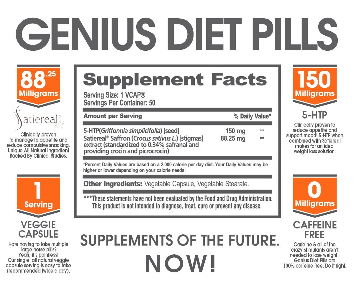Amazoncom GENIUS DIET PILLS The Smart Appetite Suppressant For - 20 genius solutions people came everyday problems