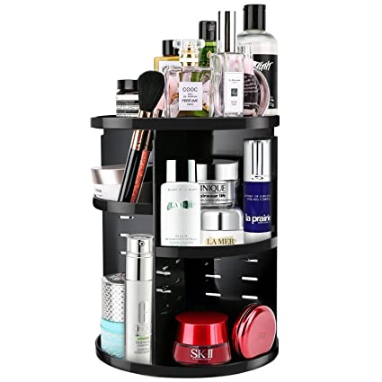 Luxspire Makeup Organizer 360 Degree Rotation Adjustable Makeup