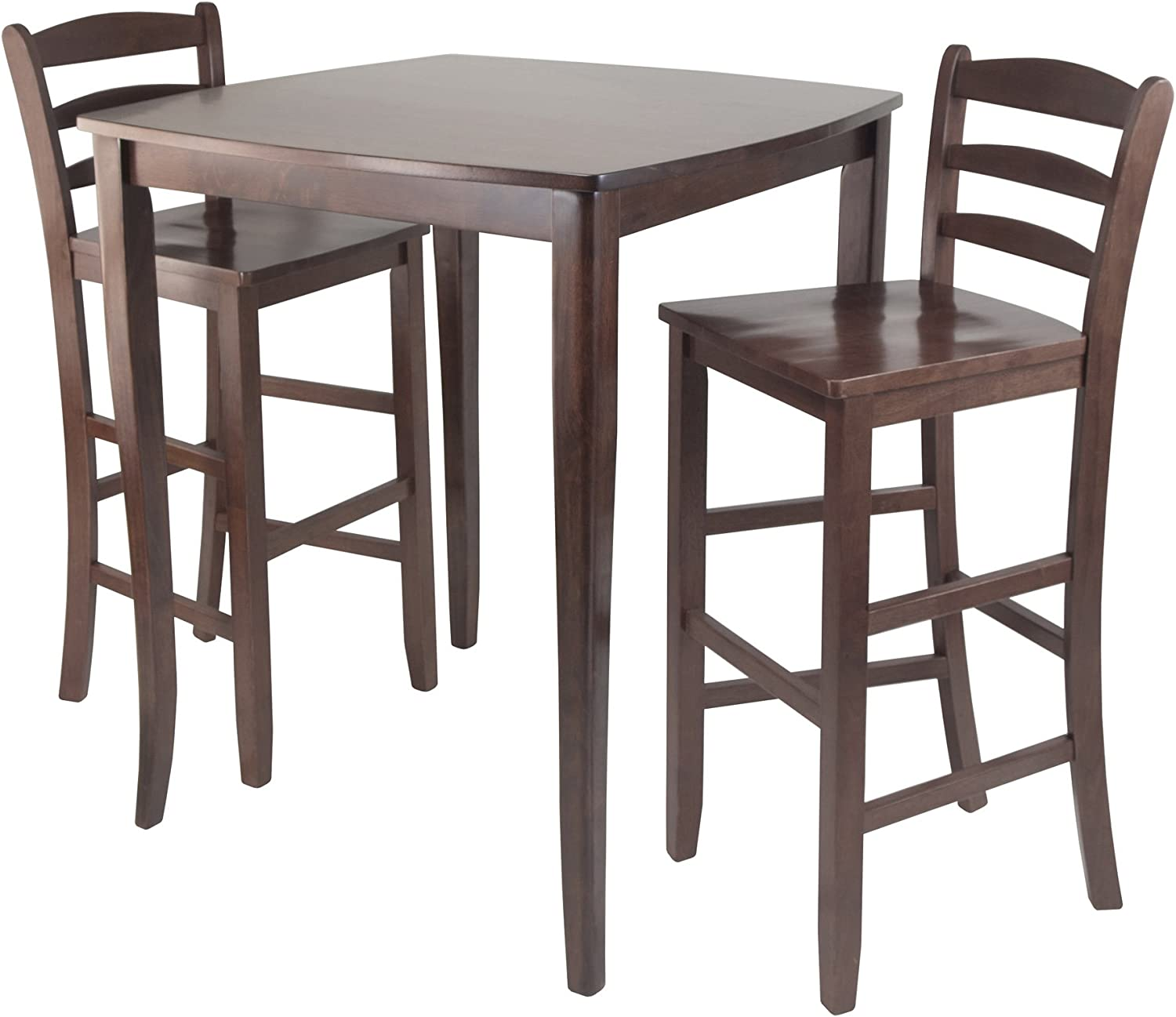 Winsome Inglewood High/Pub Dining Table with Ladder Back Stool, 12-Piece
