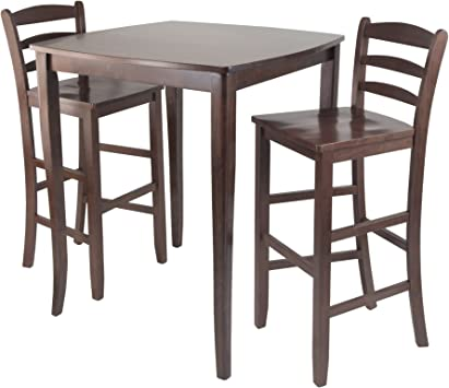 Amazon Com Winsome Inglewood High Pub Dining Table With Ladder