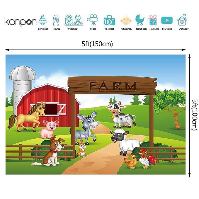 Amazon.com: Telón de fondo para fotografía de granja ...