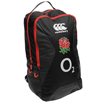 Canterbury England RFU Rugby Backpack Black Grey Sports Bag Holdall Rucksack  One Size  Amazon.co.uk  Luggage 8bc58efd38b0d
