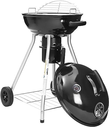 Barbecue a charbon boule en acier emaille