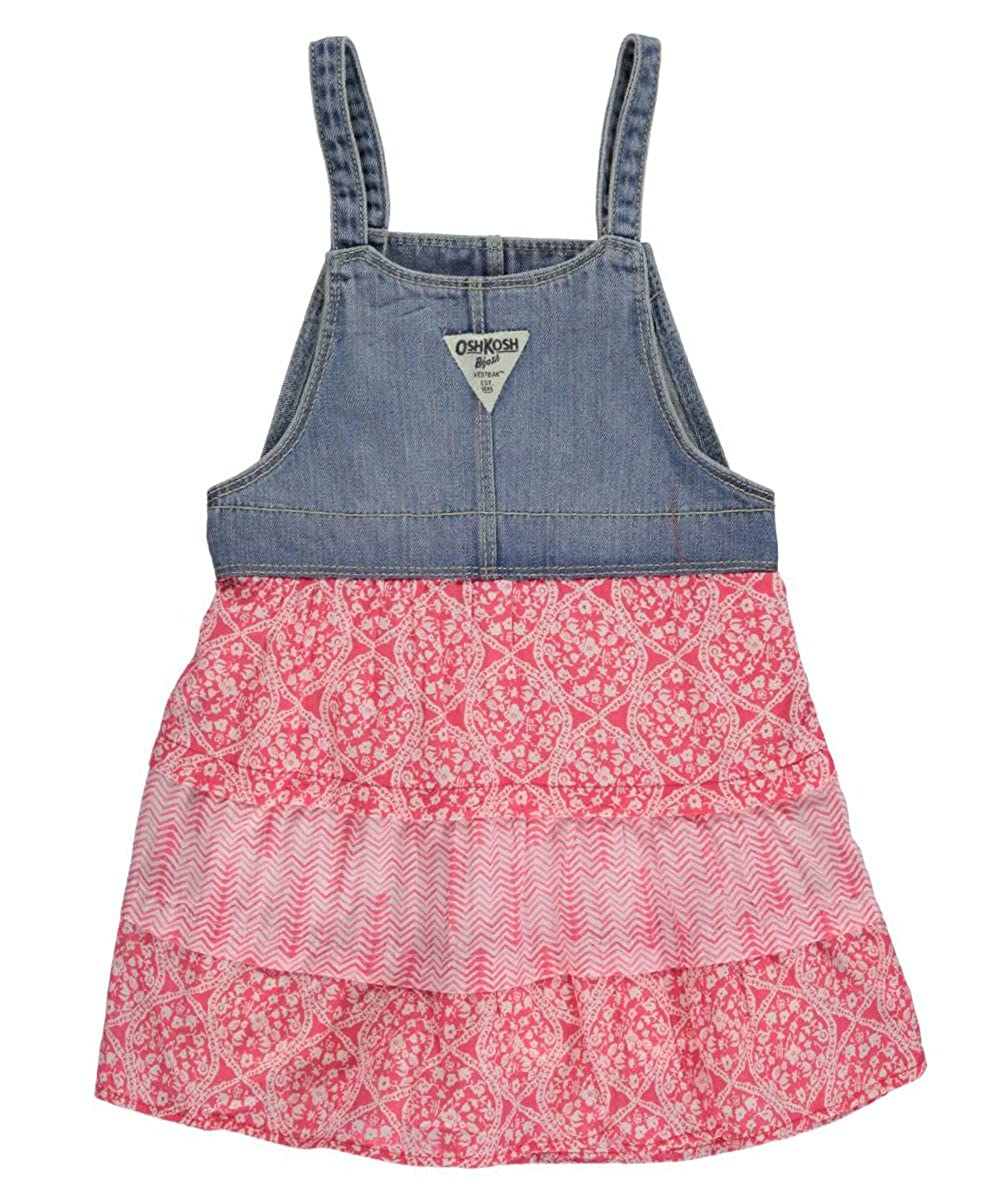 fc69e8f46acb Amazon.com  OshKosh B gosh Baby Girls  Printed Tiered Jumper 2T ...