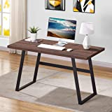 BON AUGURE Rustic Wood Computer Desk, Industrial Simple Writing Desk, Vintage Study Table for Home Office (55 Inch…