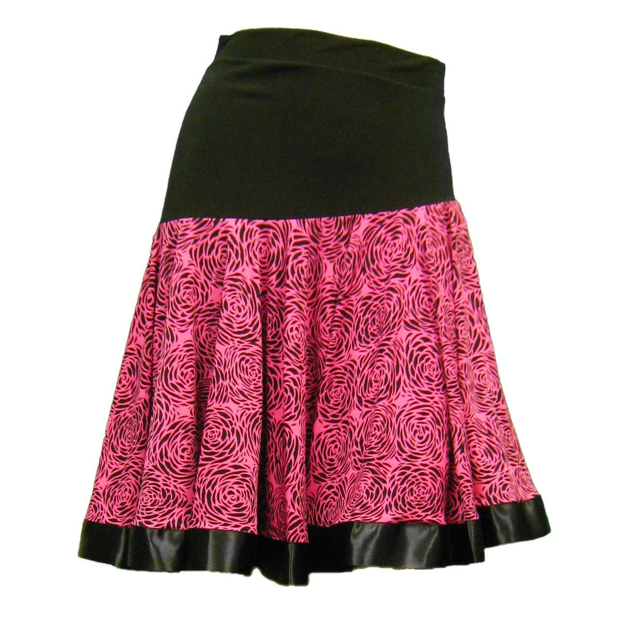 [해외](윙) WING 사교 댄스 댄스 합창 의상 노래방 사이틀 치마 여성 댄스 웨어 M ~ L 사이즈 꽃무늬 리본 테이프 자르기 댄스 스커트 핑크 계 / Wing WING Ballroom Dance Dance Chorus Costume karaoke concert skirt Ladies Dance wear M ~ L size Flor...