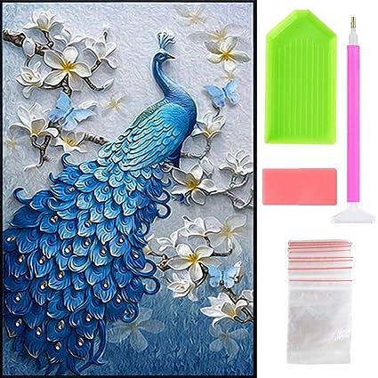 Amazon com: Ispeedy 5D Diamond Painting DIY Peacock Arts