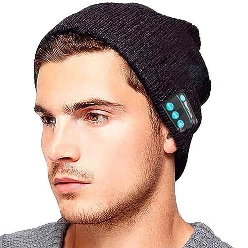 Unisex Inalámbrica Auriculares Deportivos Gorro Bluetooth Con Construido En Handsfree Micro Auricular Invierno Música Mp3 Beanie Sombrero