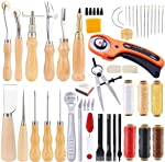 53 Pieces Beginners Leather Work Tools, Leather Working Kit with Instructions,