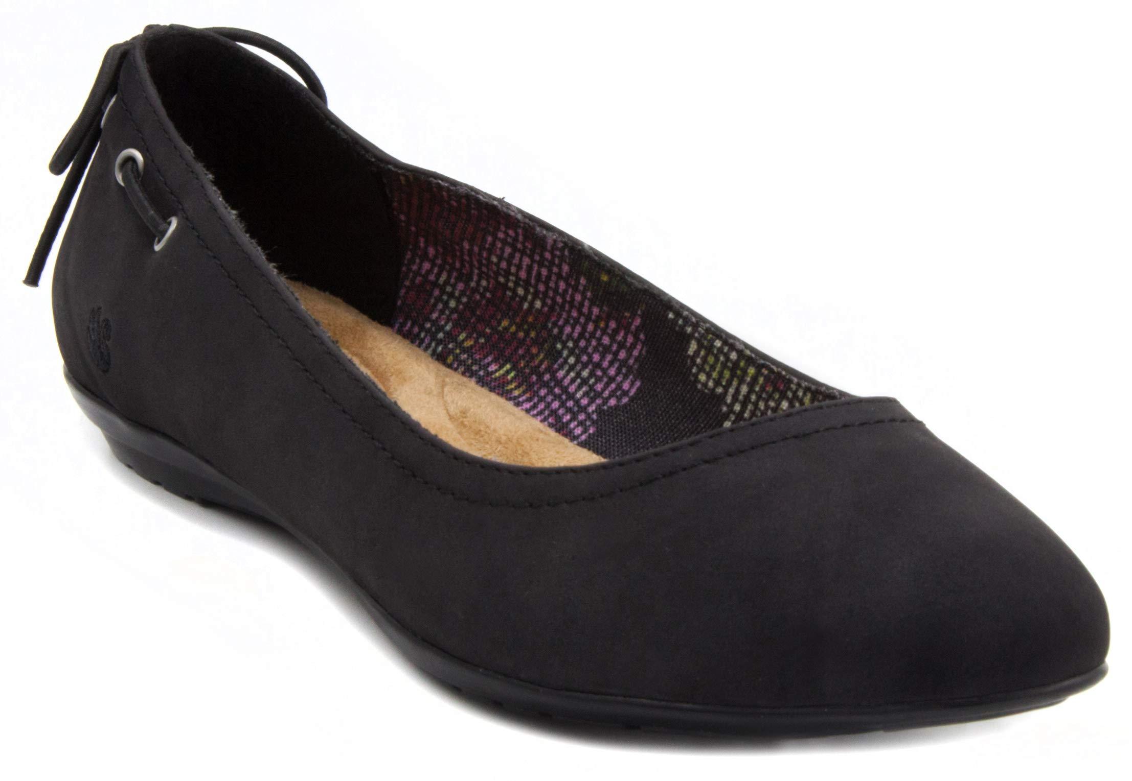 Gloria Vanderbilt Women's Nita Skimmer Flat, Slip On Pointed Toe Fashion Dress Shoe Black 9