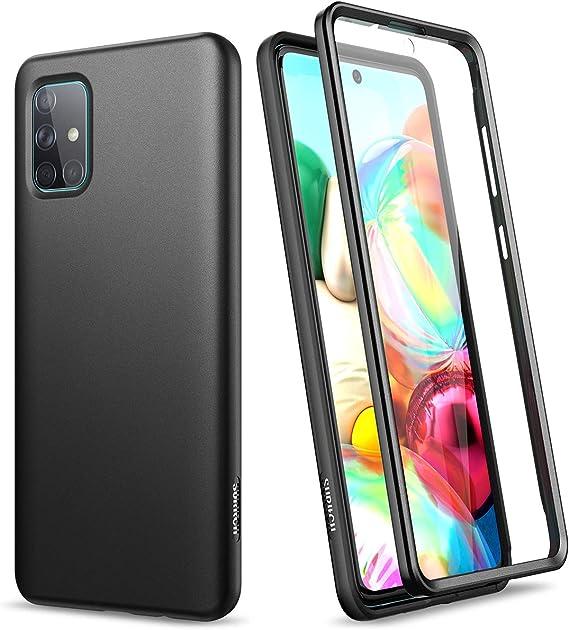 SURITCH Funda para Samsung Galaxy A71 Silicona 360 Grados Bumper ...