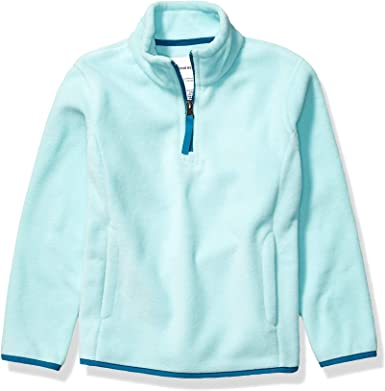 Essentials Girls Quarter-Zip High-Pile Polar Fleece Jacket