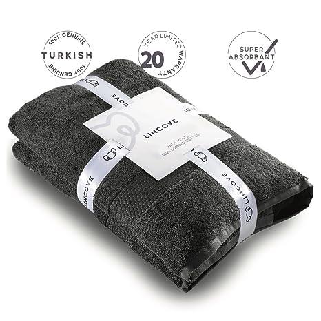 Lincove Toalla de baño (algodón peinado Hotel y Spa toalla de baño de calidad –